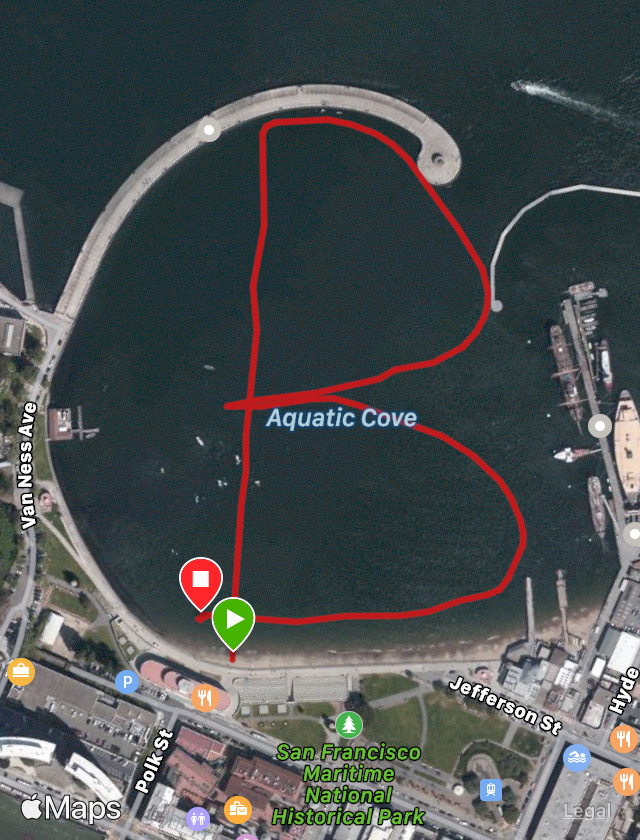 """This is the gps of Will's """"B"""" in the cove."""